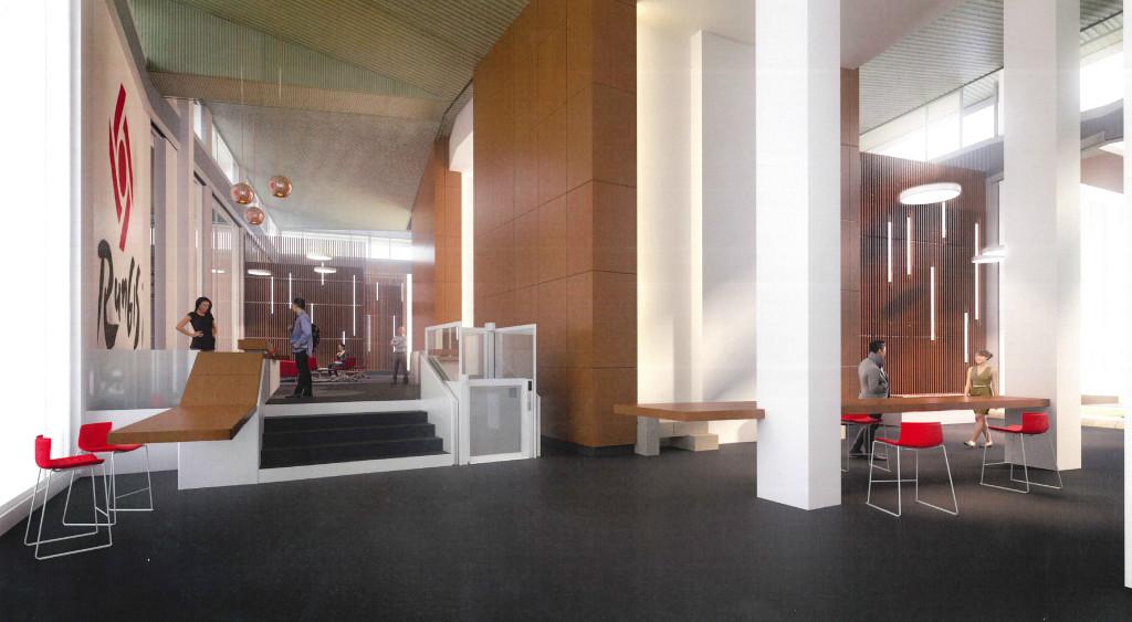 Hall d'accueil Tour Rungis